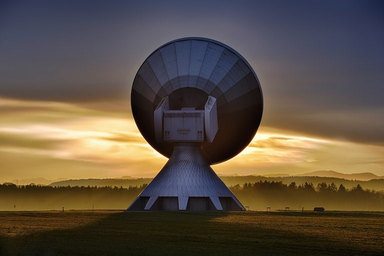 Dish at dawn.